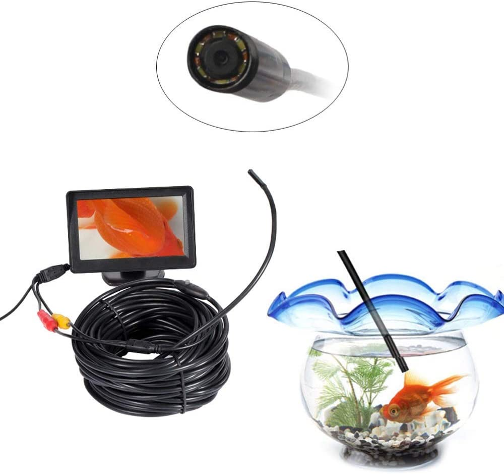 W.Z.H.H.H Borescope 5V Color : Hard, Size : 20m 12V AV Endoscope /étanche Mini cam/éra dinspection de Tuyau Flexible dinspection Serpent Endoscope endoscopes
