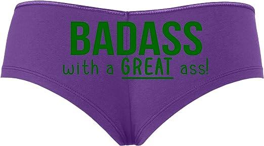 Knaughty Knickers Badass with A Great Ass Nice Booty Rude Flirty White Boyshort