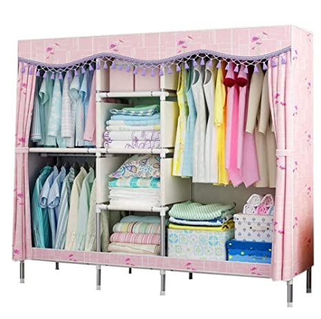 Amazon.com: YG-BY Wardrobes Closet Wardrobe Foldable Hanging ...