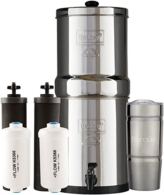 Berkey Stainless Steel Wire Stand with Rubberized Non-Skid Feet for The Royal Berkey and Other Large Sized Gravity Fed Water Filters
