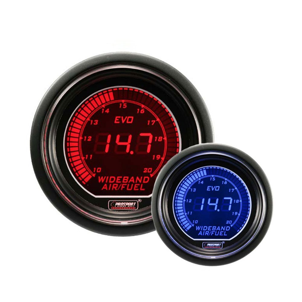 Wideband Digital Air Fuel Ratio Kit Blue Red Evo Series Auto Meter Boost Wire Harness 52mm 2 1 16 Automotive