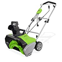 Amazon.com deals on GreenWorks 2600502 13 Amp 20-Inch Corded Snow Thrower
