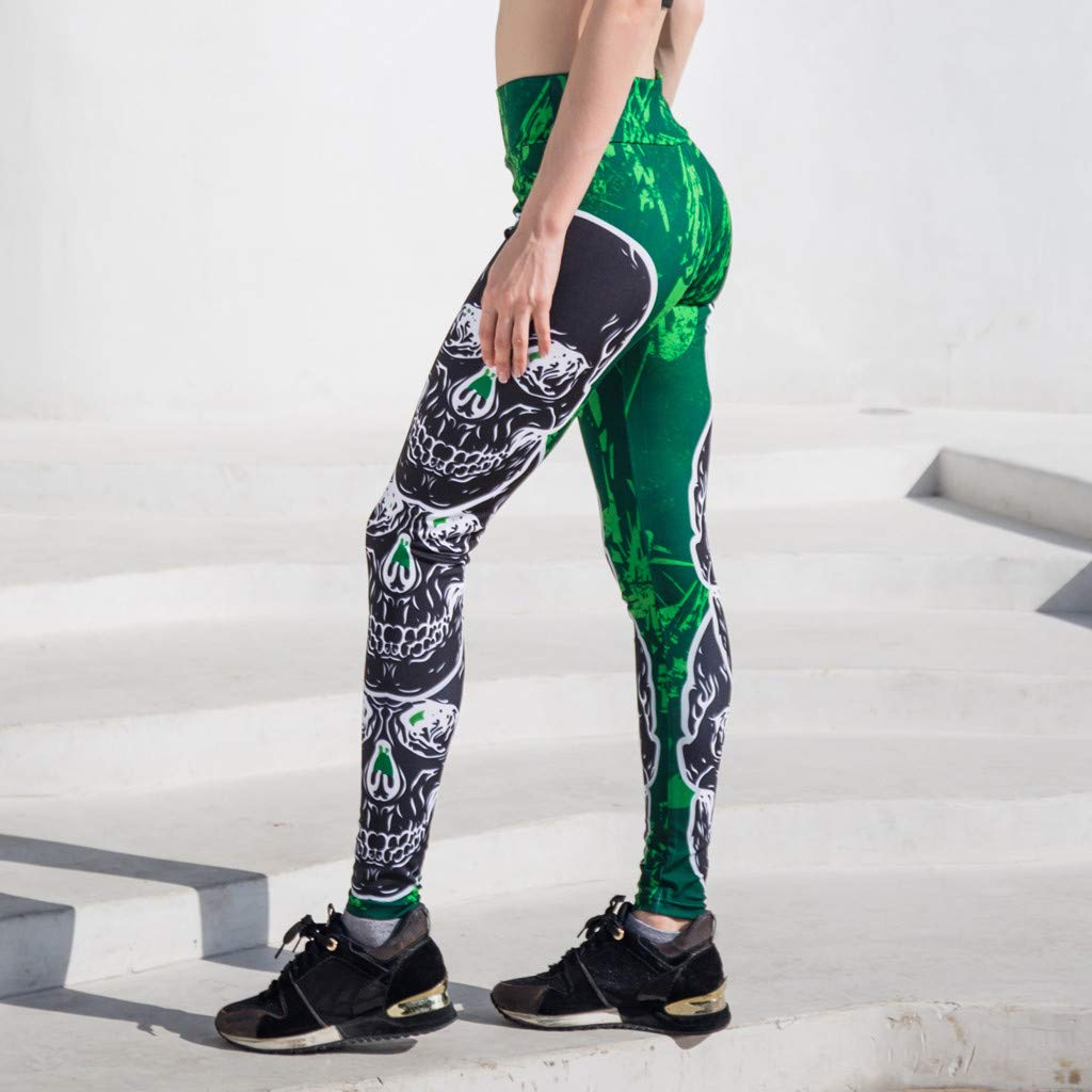 Aribelly Printed Extra Long Women Yoga Leggings High Waist Tummy Control Over The Heel Yoga Pants