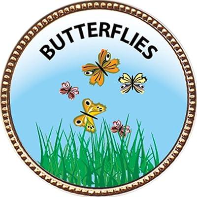 Keepsake Awards Butterflies Award, 1 inch Dia Gold Pin Nature Studies Collection: Toys & Games