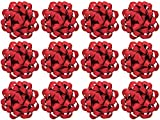 Arts & Crafts : The Gift Wrap Company 12 Count Decorative Matte Bows, Medium, Red