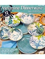 Amazon.com: Melamine - Dinnerware Sets / Dining & Entertaining: Home ...