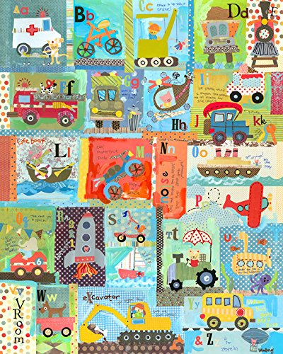 Oopsy Daisy Go Alphabet by Winborg Sisters Canvas Wall Art, 24 by (Oopsy Daisy Collage)