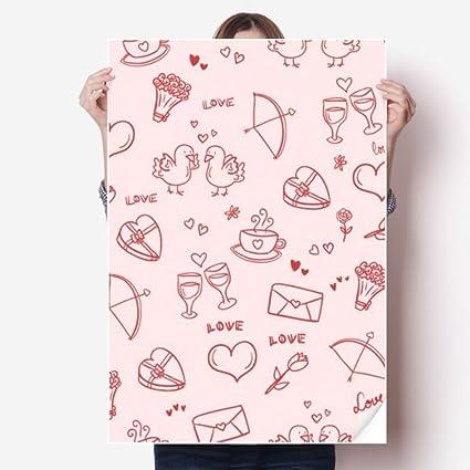Amazon Com Diythinker Pink Red Hearts Love Valentine S Day Vinyl