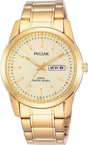 Pulsar Gents Gold Braclet Watch  Amazon.co.uk  Watches 726989ba68