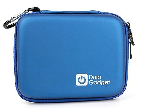 DURAGADGET Funda Azul Compatible con Vtech Kidizoom Smartwatch/DX + Mini Mosquetón para Colgarla Donde Desee - Resistente A Golpes