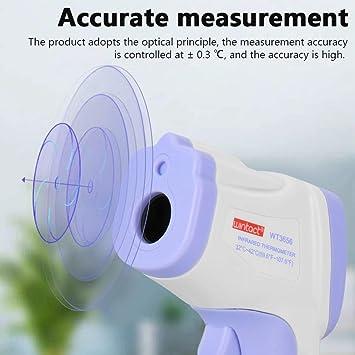LONGSPEED Pistolet de temp/érature frontale portable Thermom/ètre infrarouge sans contact Thermom/ètre de haute pr/écision Thermom/ètre