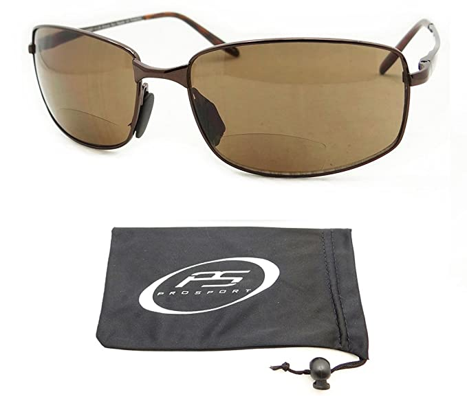 a51f7add4c Amazon.com  Square Bifocal Sunglasses 1.25 for Men with High Nickle Frames.  Free Microfiber Cleaning Case Included.  Clothing