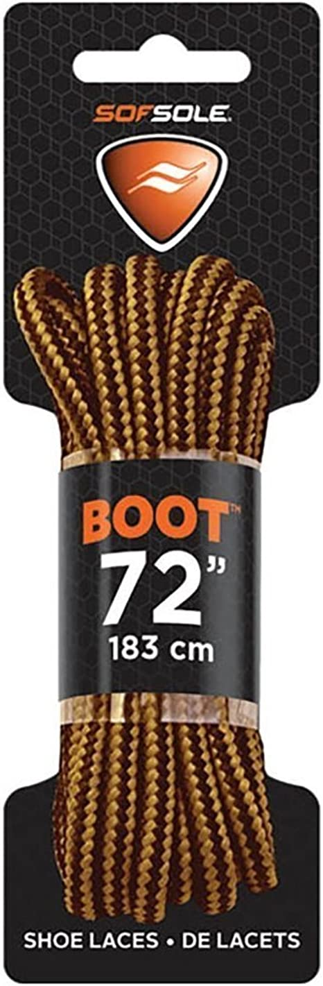 "NEW SOFSOLE 60/"" BLACK TAN BOOT LACES SHOE LACES"