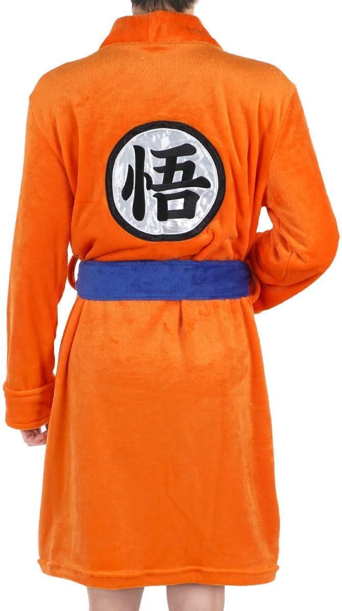 CoolChange Accappatoio di Son Goku per Bambini con Scritta Go 150 Taglia