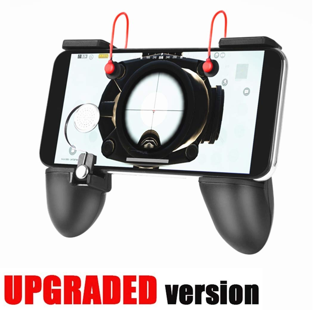 Mobile Game Controller [Upgrade Version Bundle] - WeeDee Fortnite PUBG Mobile Controller with Gaming Trigger,Ergonomic Design Gaming Grip and Gaming Joysticks for Android iOS Phones