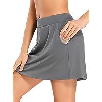 Jessie Kidden Women's Active Athletic Skort Lightweight Skirt with Pockets for Running Tennis Golf Workout