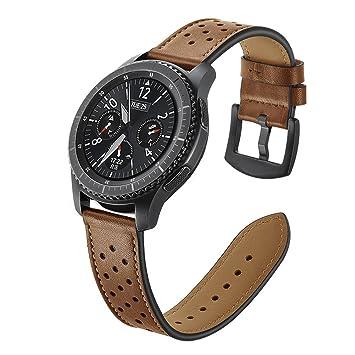 Aottom para Correas Galaxy Watch 46mm, Correa Samsung Gear S3 Frontier Cuero, Correas Samsung Gear S3 Classic 22mm Reemplazo de Pulseras de Repuesto ...