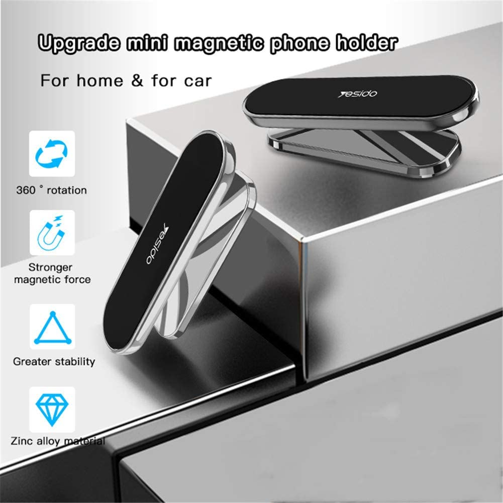 360/° Cars GPS Devices Dashboard Mobile Phone Holders Six N50 Magnets are Stronger Compatible iPhone Xs 8 Plus Samsung S10,Silver TFNAI Car Phone Universal Magnets,UDashboard Holder Magnets