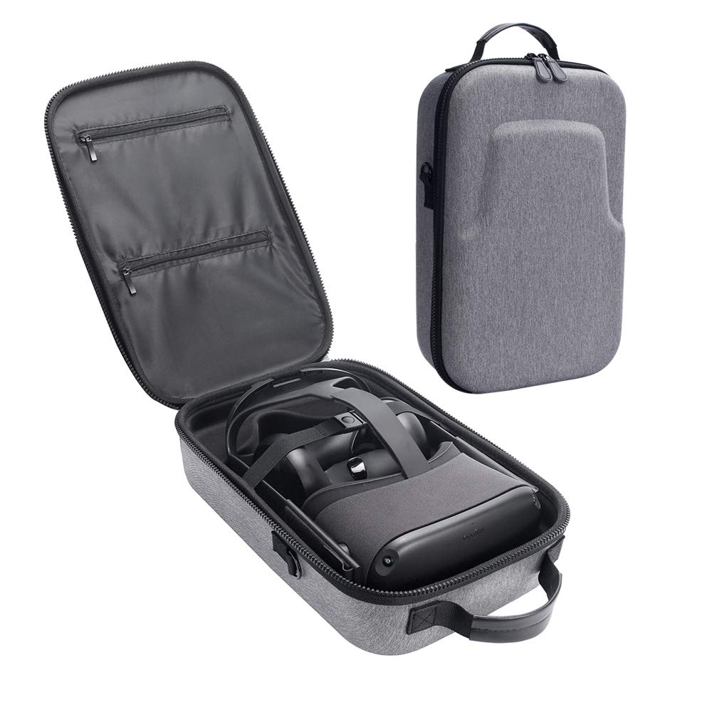 HIJIAO Hard Travel Case for Oculus Quest VR Gaming Headset and Controllers Accessories Waterproof Shockproof Carring case (Gray) by HIJIAO