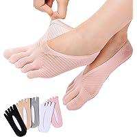 REKYO De Las Mujeres Del Dedo Del Pie De Cinco Dedos Calcetines Suave Y Transpirable Escotados…
