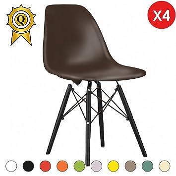 4 Mobistyl Chaise Bois Assise Design Inspiration X Noir Pieds Eiffel cS4A5q3RjL