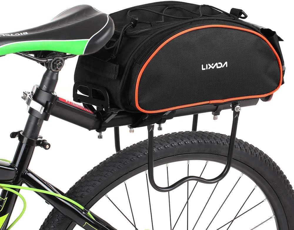 Lixada Bolsa Trasera para Bicicleta Multifuncional Bolsa de ...