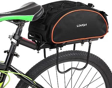Lixada Bolsa Trasera para Bicicleta Multifuncional Bolsa de Asiento Trasero Bolsa de Hombro para Ciclismo al Aire Libre: Amazon.es: Deportes y aire libre