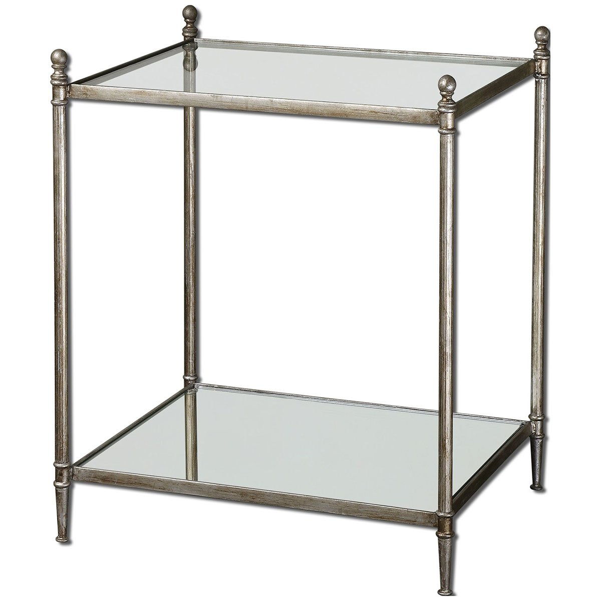 Amazoncom Uttermost 24282 Gannon Mirrored Glass End Table