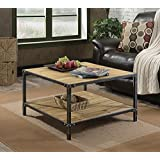Convenience Concepts Laredo Coffee Table, Natural and Black
