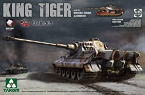 Takom TAK2046S WWII German Heavy Tank Sd.Kfz.182 King Tiger Porsche Turret w//Zim