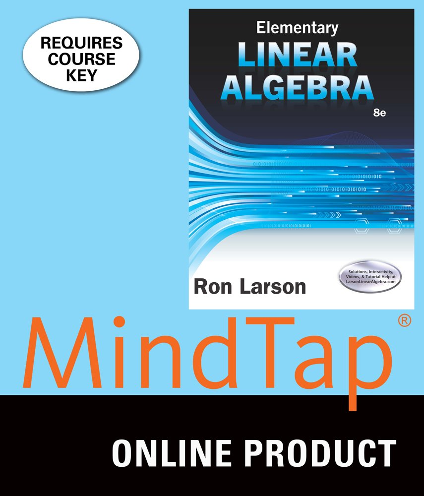 Amazon.com: MindTap Math for Larson's Elementary Linear Algebra, 8th Edition:  Software