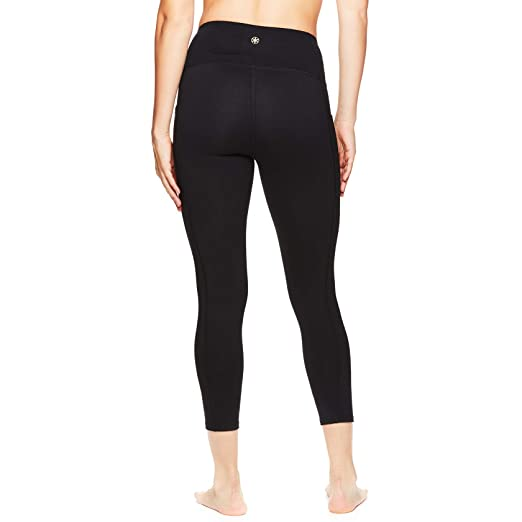 b6a01b1e20cbc Gaiam Women's Capri Yoga Pants - Performance Spandex Compression Legging -  Hi Rise Relax Black,