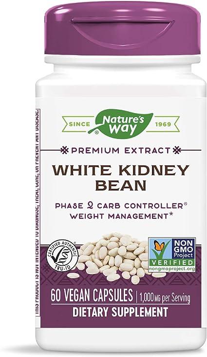 Amazon Com Nature S Way White Kidney Bean Vegan 60 Capsules Health Personal Care