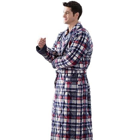 DMMSS Ropa de dormir caliente casa de los hombres ropa gruesa de invierno batas de ba