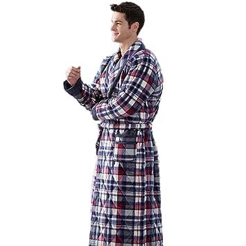DMMSS Ropa de dormir caliente casa de los hombres ropa gruesa de invierno batas de baño pijamas , xl: Amazon.es: Deportes y aire libre