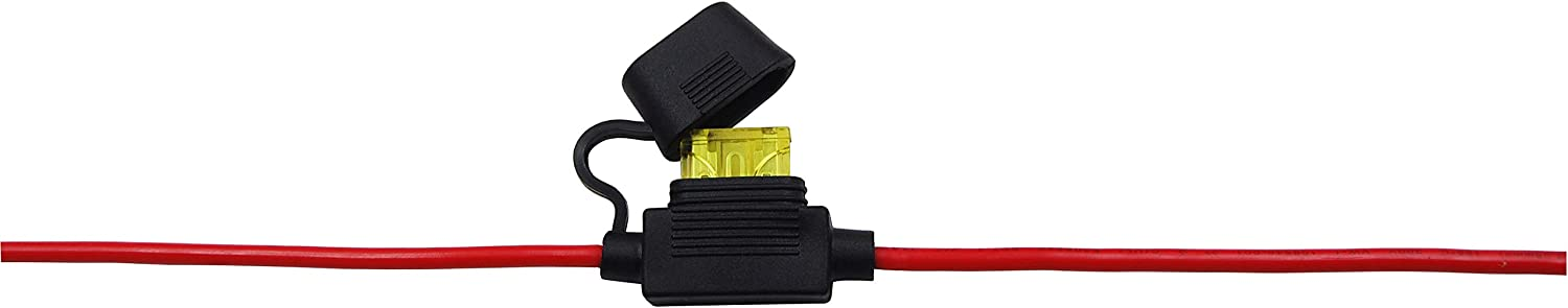 CUZEC 14FT//4.27m 14 AWG Extension Cord Eyelet Terminal with Battery Clamp 12V// 24V Battery Clip-On For High-power inverter and More 13.1FT LONG