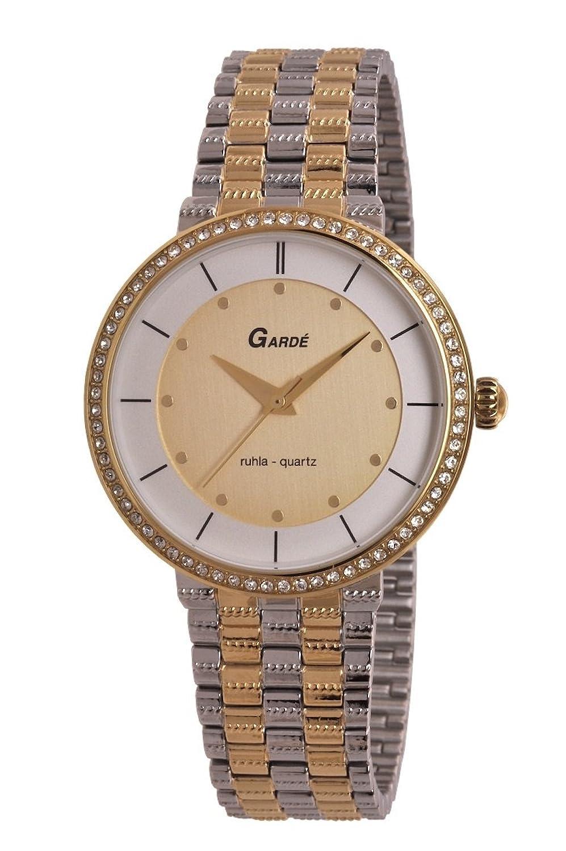 Garde (by Ruhla) Uhr Damen Edelstahl Armbanduhr Modell Elegance 73143 mit Similisteinen