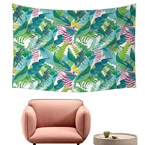 - Agoza Rectangular Tapestry Leaf Summer Spring in Exotic Island with Flowers Plumeria Lilac Image Wall Tapestry for Bedroom 59