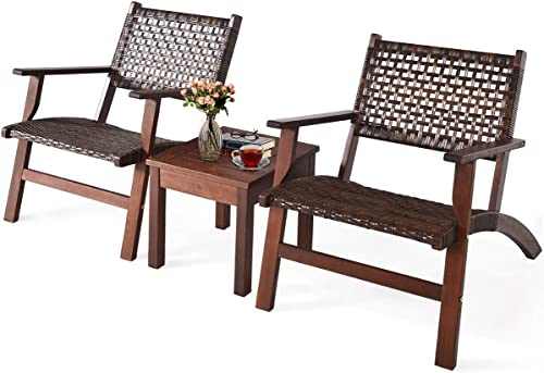 Tangkula 3 PCS Patio Conversation Set