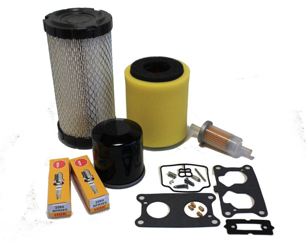 Kawasaki Mule 3000/3010/ 3020 Tune Up Kit (Carburetor Rebuild Kit, Air, Oil, Fuel Filter, Spark Plugs) by ATVWorks