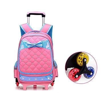b65f44e29b YSZDM Trolley per Bambini, Tracolla per Bambini a Forma di Cuore Trolley per  Libri a