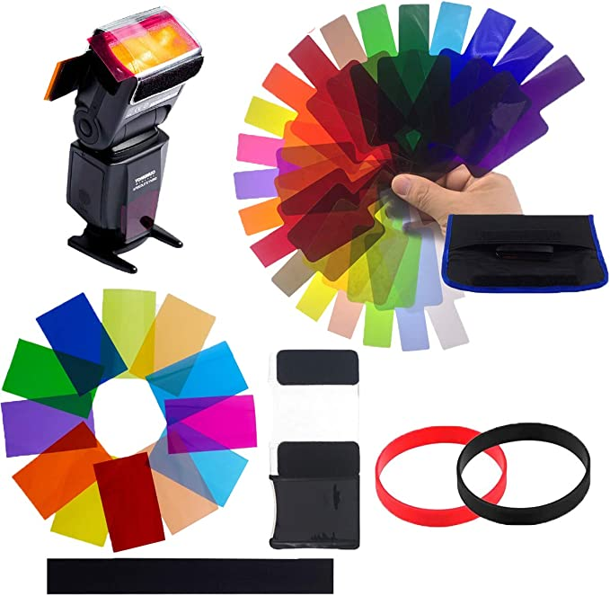 Osuter 32 Stück Farbfilter Folie Kunststoff Kamera