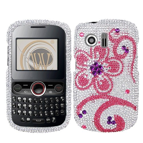 Electic Flower Diamond Crystal Bling Protector Case for Huawe Pillar (M615), ()