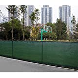 Globe House Products GHP Outdoor Dark Green 6'x50' Anti-rustic and Weahtherproof Privacy Knitted Fence