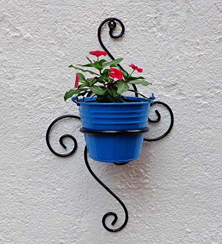 Green Gardenia Iron S Wall Bracket with Bucket (Light Blue) product image