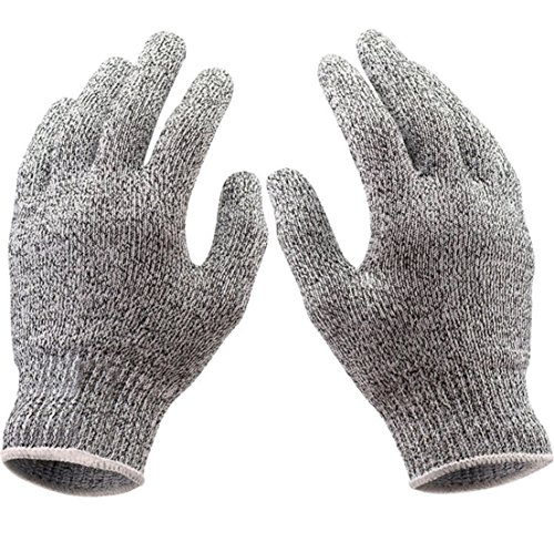 [1-Set (1 Pair) Dashing Popular Hot Stainless Steel Glove Anti-Scratch Mesh Protector Butcher Hand Protect Color Heather Grey Size] (Marvel Cable Costume)