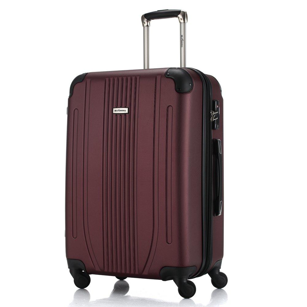 スーツケース 軽量 ファスナー TSAロック搭載 大型 中型 小型 機内持込み flower fairy B073W95667 大型、L|バーガンディ バーガンディ 大型、L