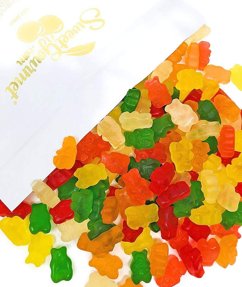 SweetGourmet Assorted Sugar Free Gummi Bears   Albanese Bulk Candy Gummy   Strawberry, Apple, Orange, Pineapple, Lemon, Cherry   Fat Free, Gluten Free, Dairy Free, MSG Free   3 Pounds