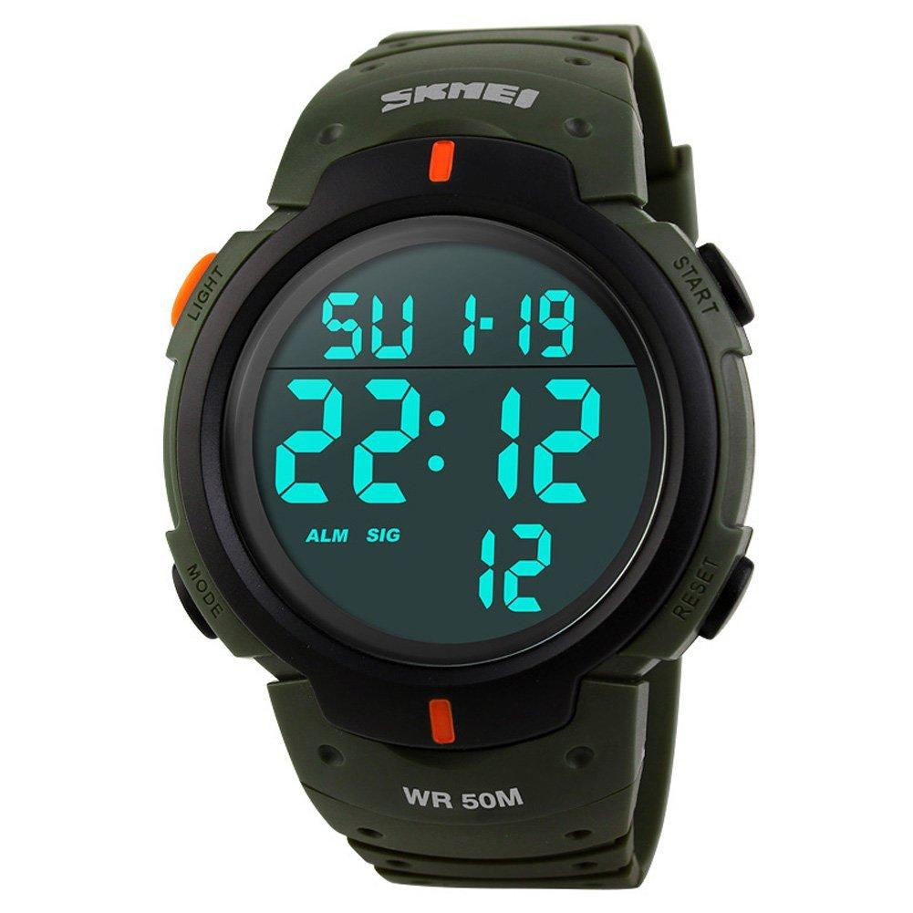 NANHONG hombres relojes Led Digital Reloj Militar Casual de control remoto exterior impermeable