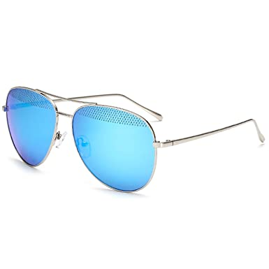 Amazon.com: Men Sunglasses Over Sized Metal frame Pilot Mesh ...